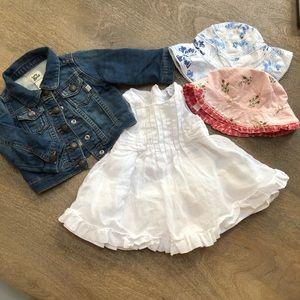 GAP Oshkosh Dress Jacket  4pc Baby Girl  3-6 mo